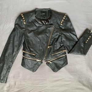 Forever 21 studded leather jacket